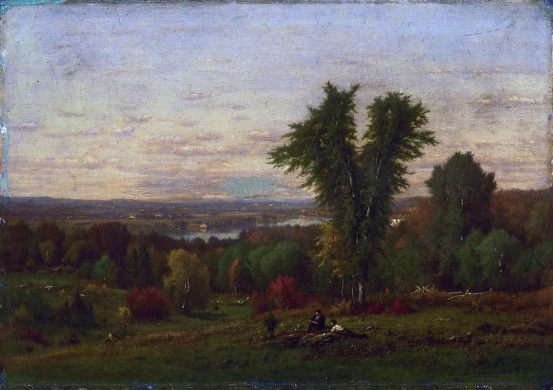 George Inness, American, 1825-1894 -- Landscape near Medfield, Massachusetts