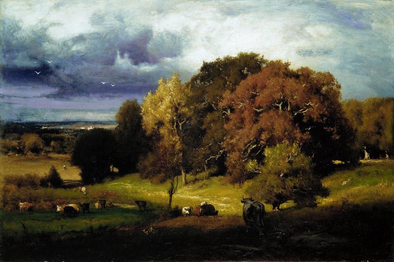 George Inness--Autumn Oaks