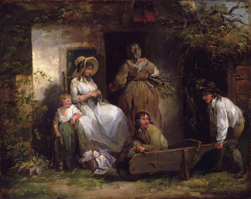 George Morland, English, 1763-1804 -- The Happy Cottagers (The Cottage Door)