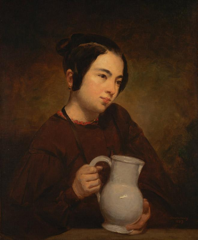 George Peter Alexander Healy - Girl with a Pitcher, 1837