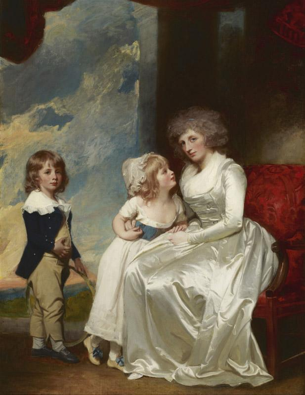 George Romney - Henrietta, Countess of Warwick, and Her Children, 1787-1789