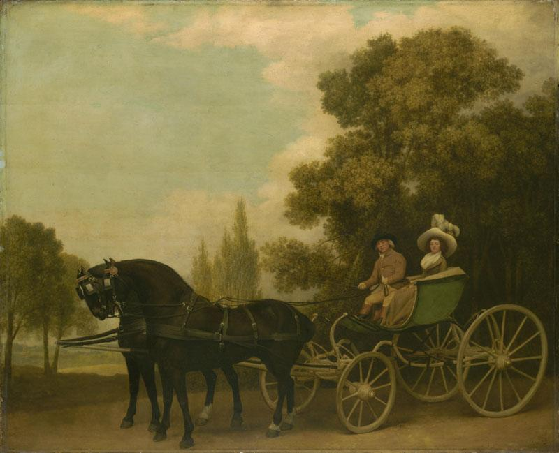 George Stubbs - A Gentleman driving a Lady in a Phaeton