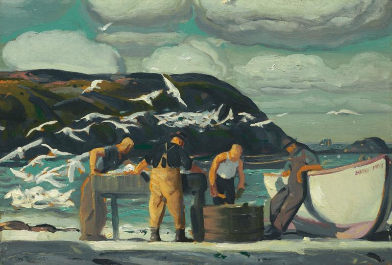 George Wesley Bellows - Cleaning Fish, 1913