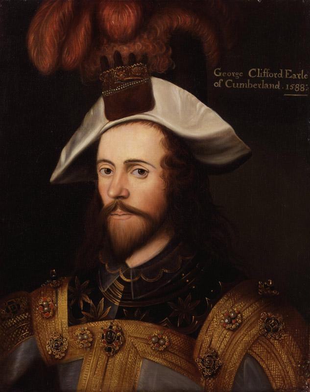 George Clifford 3rd Earl of Cumberland after Nicholas Hilliard
