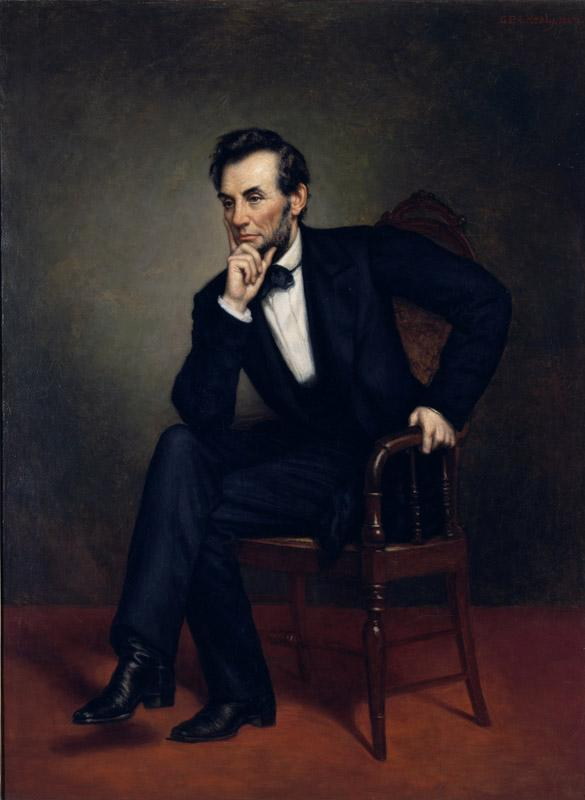 George Peter Alexander Healy - Portrait of Abraham Lincoln (1887)