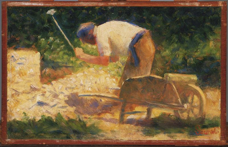 Georges Seurat (1859-1891)-The Stone Breaker