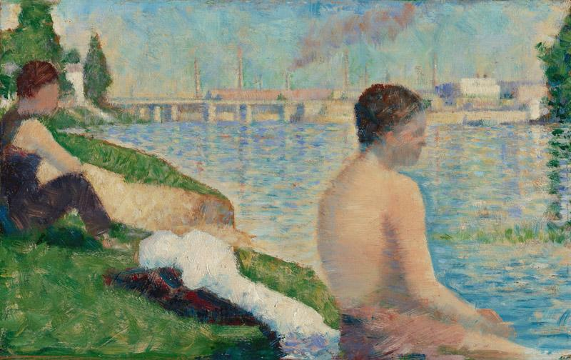 Georges-Pierre Seurat - Study for A Bathing Place, Asnieres, 1883