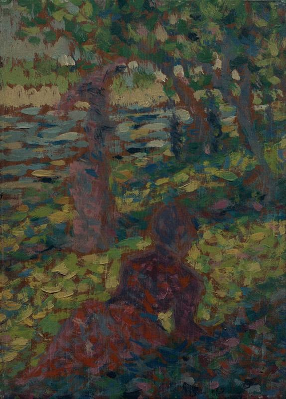 Georges Pierre Seurat - Woman in a Park