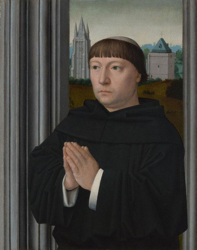 Gerard David - An Augustinian Friar Praying
