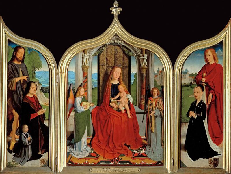 Gerard David -- Triptych of the Sedano Family