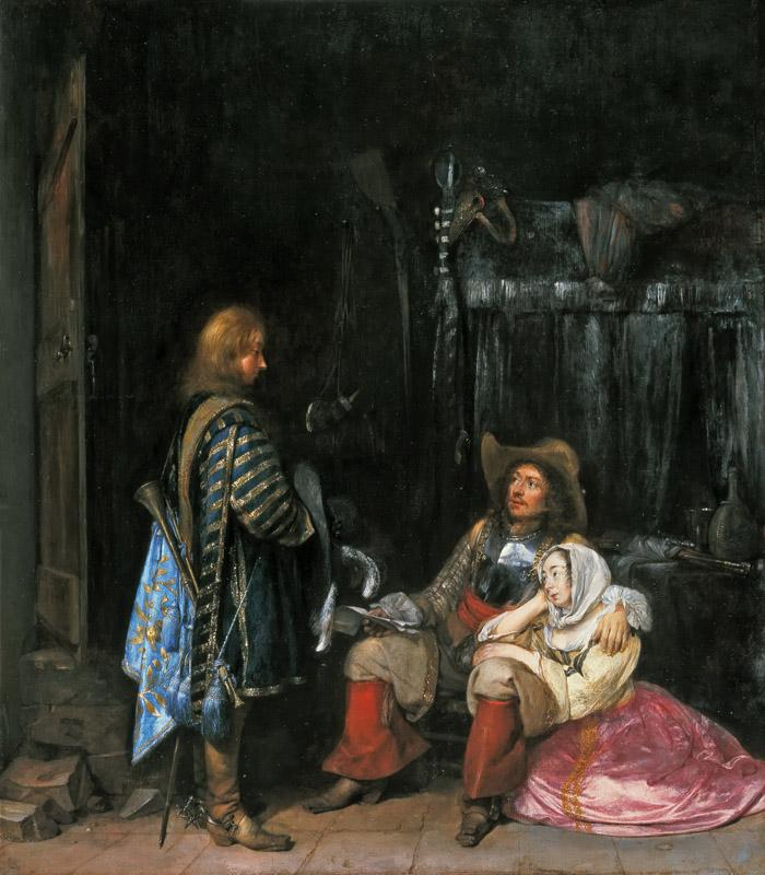 Gerard ter Borch - The Messenger, known as Unwelcome News