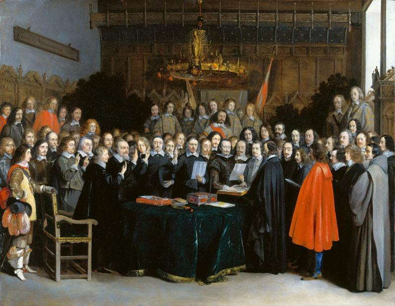 Gerard ter Borch - The Ratification of the Treaty of Munster