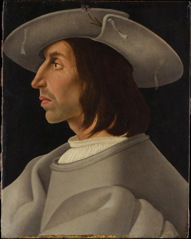 German (Augsburg) Painter--Portrait of a Man in Profile