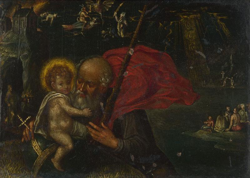 German - Saint Christopher carrying the Infant Christ