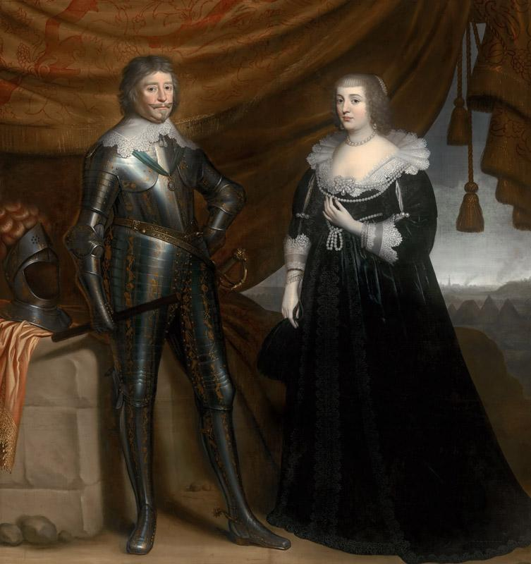 Gerrit van Honthorst - Double Portrait of Frederik Hendrik and Amalia of Solms-Braunfels