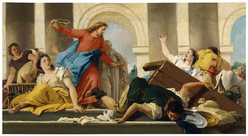 Giandomenico Tiepolo - The Expulsion of the Money-Changed from the Temple, 1750-53