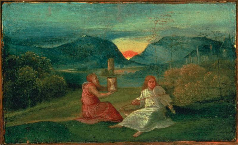 Giorgione (attributed to) (1477 - 1510) (Italian)-The Hour Glass