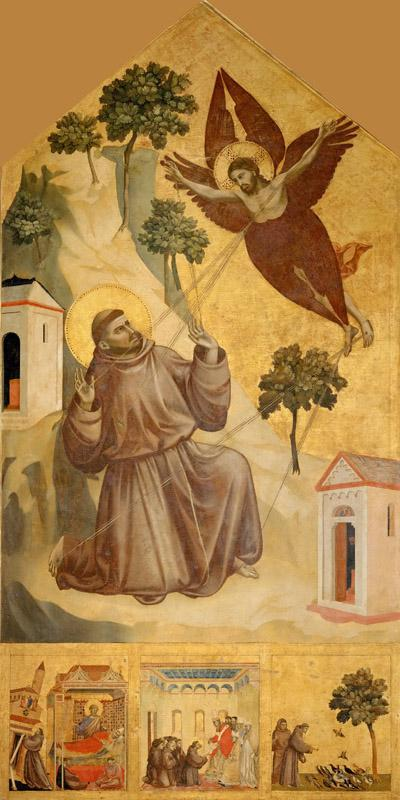 Giotto -- Saint Francis of Assisi Receiving the Stigmata