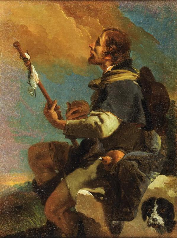 Giovanni Battista Tiepolo, Italian (active Venice, Udine, Wurzburg, and Madrid) 1696-1770 -- Saint Roch