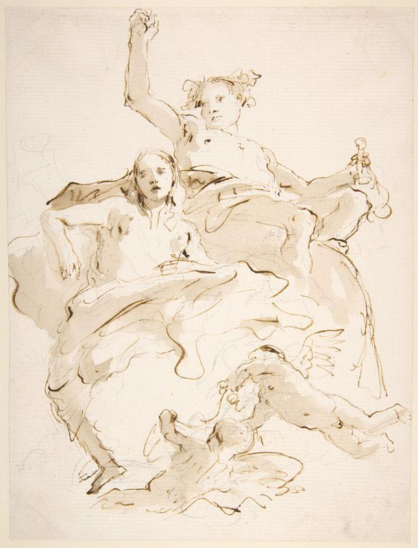 Giovanni Battista Tiepolo--Bacchus and Ariadne