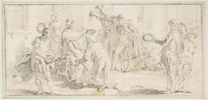 Giovanni Battista Tiepolo--Illustration for a Book Allegorical Scene of Coronation