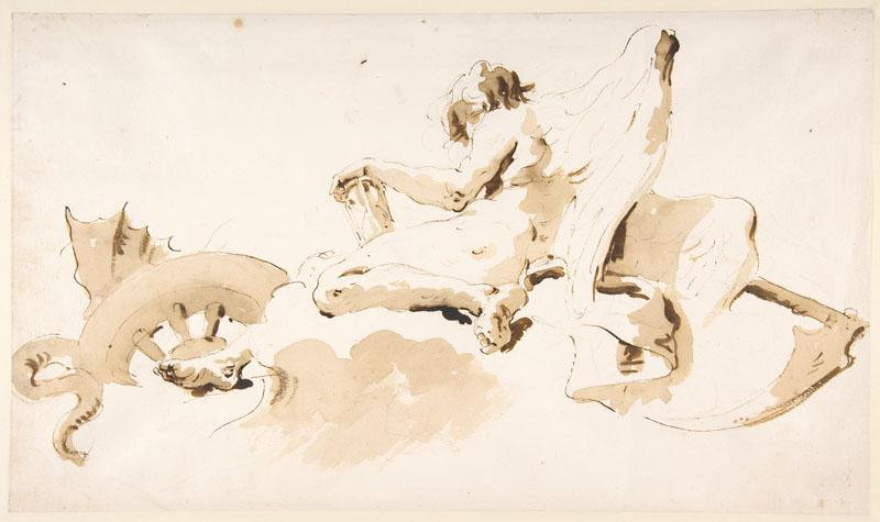 Giovanni Battista Tiepolo--Seated Figure of Time