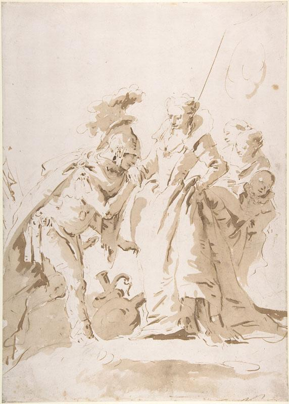 Giovanni Battista Tiepolo--The Meeting of Anthony and Cleopatra