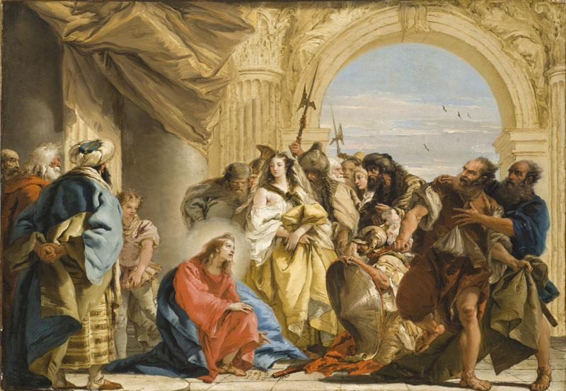 Giovanni Domenico Tiepolo - Christ and the Woman taken in Adultery
