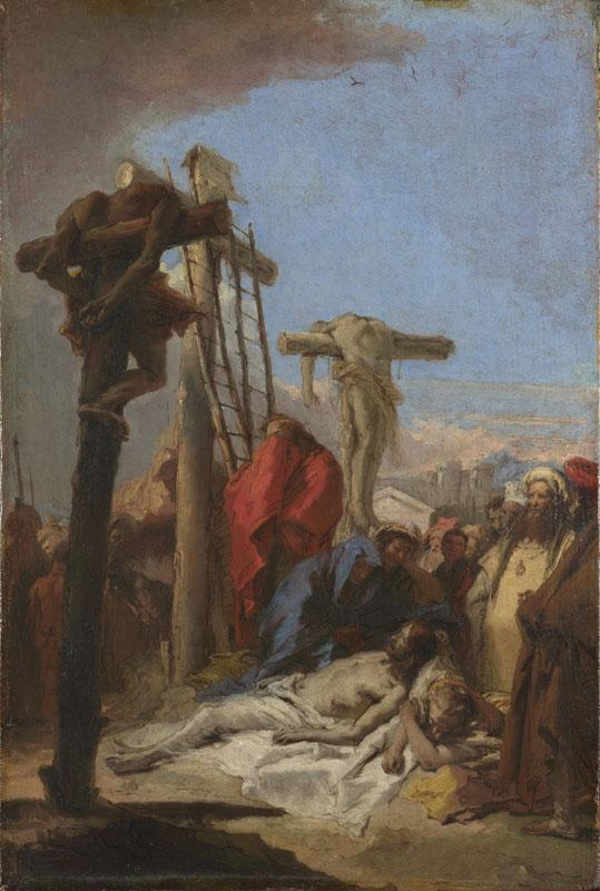 Giovanni Domenico Tiepolo - The Lamentation at the Foot of the Cross II
