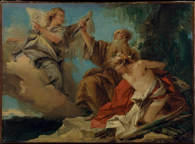 Giovanni Domenico Tiepolo--The Sacrifice of Isaac