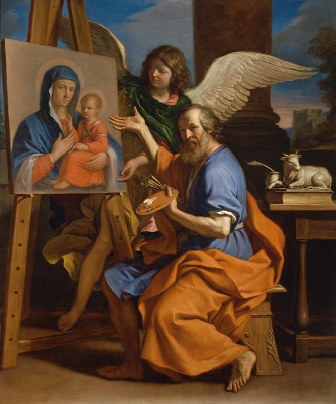 Giovanni Francesco Barbieri (Il Guercino) - Saint Luke Displaying a Painting of the Virgin, 1652-