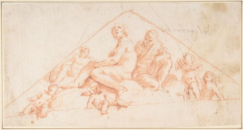 Giovanni Lanfranco--Seated Apostles and Putti