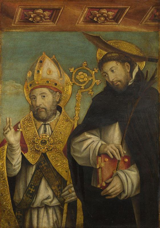 Giovanni Martino Spanzotti - Saint Peter Martyr and a Bishop Saint (Saint Evasio)