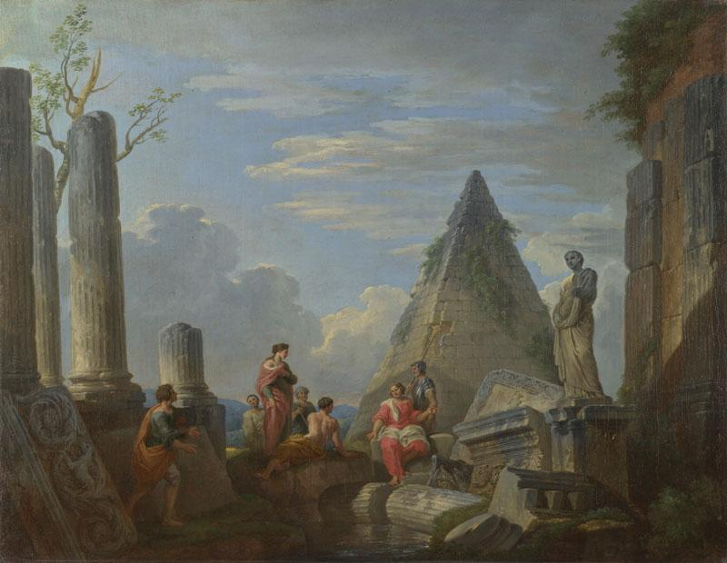 Giovanni Paolo Panini - Roman Ruins with Figures