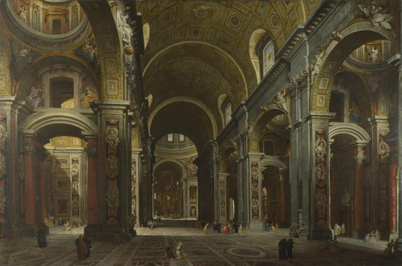 Giovanni Paolo Panini - Rome - The Interior of St Peter