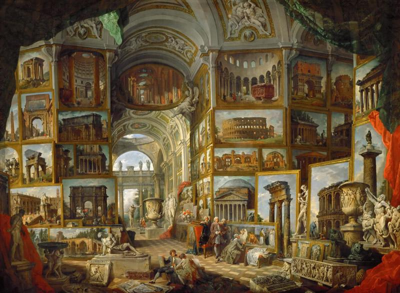 Giovanni Paolo Panini -- The Gallery of views of ancient Rome