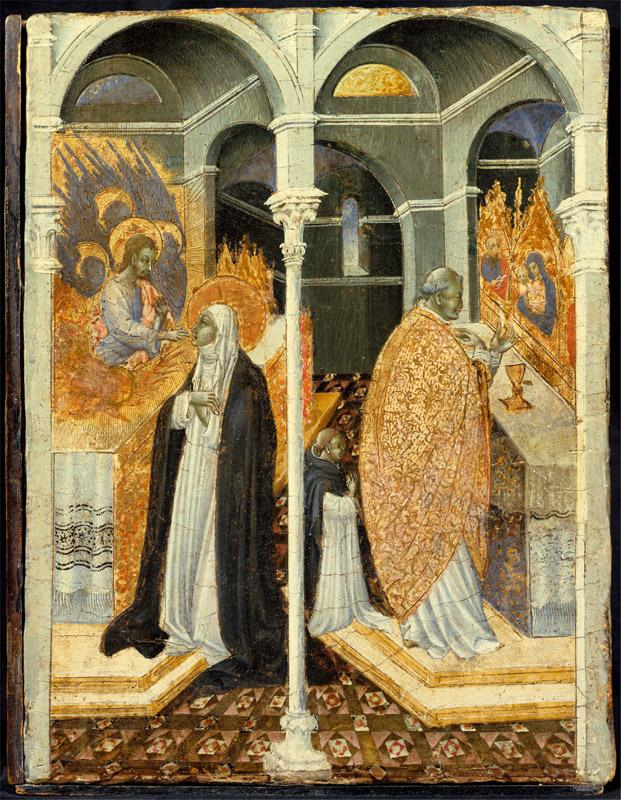 Giovanni di Paolo--The Miraculous Communion of Saint Catherine of Siena
