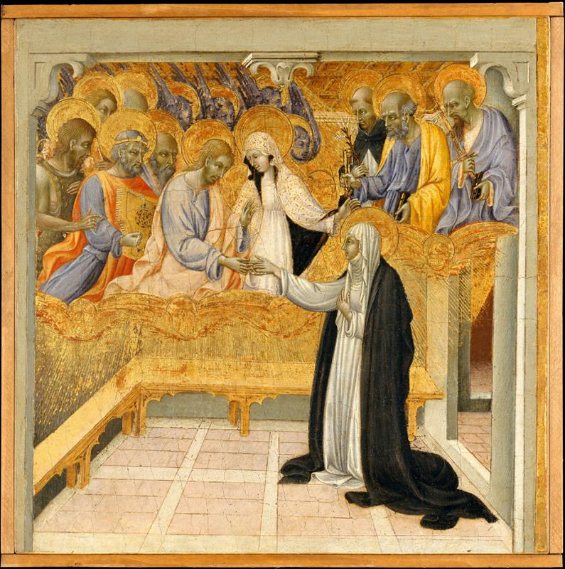 Giovanni di Paolo--The Mystic Marriage of Saint Catherine of Siena