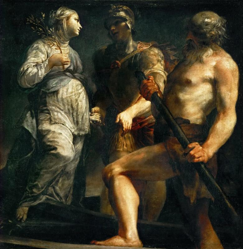 Giuseppe Maria Crespi -- Aeneas, the Sibyl and Charon