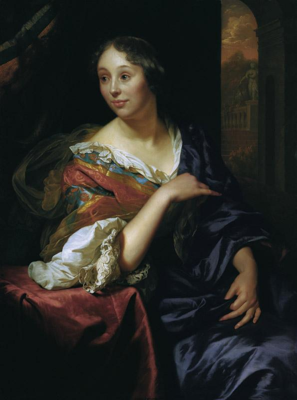 Godfried Schalcken - Portrait of Francoise van Diemen, 1679