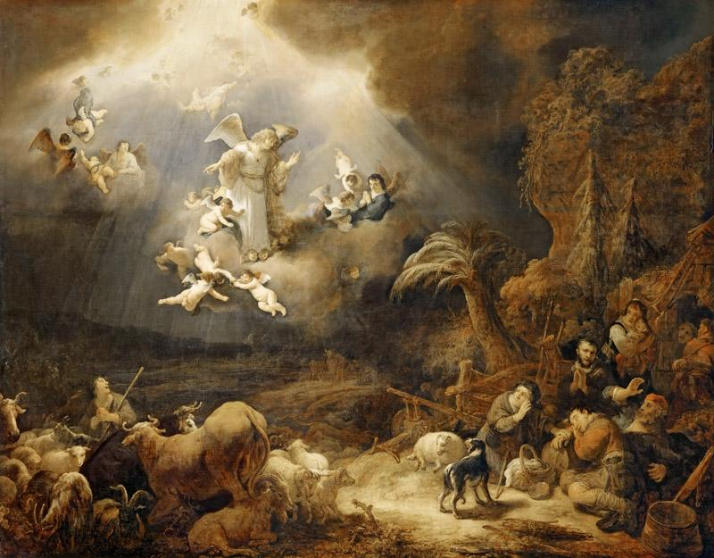 Govaert Flinck -- Annunciation to the Shepherds