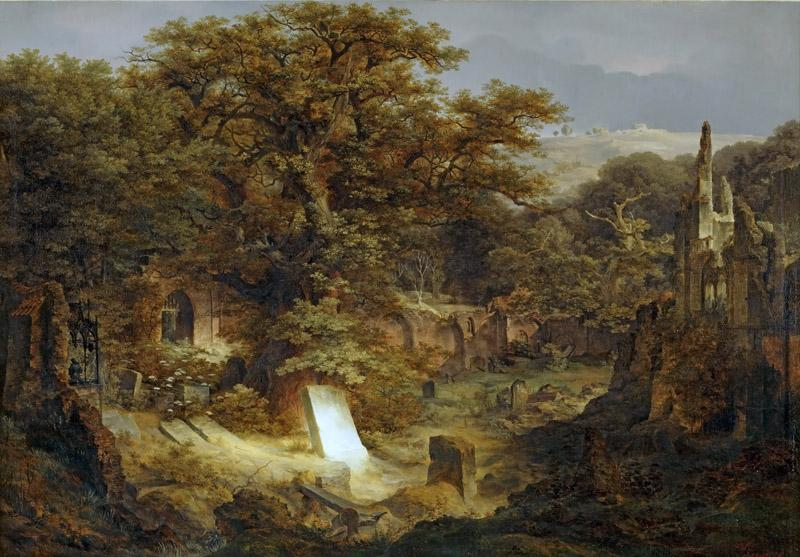 Govaert Flinck -- Landscape with Tombstone and Ruins