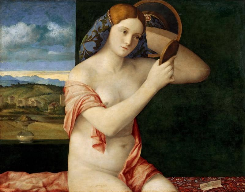 Govanni Bellini - Naked Young Woman in Front of the Mirror