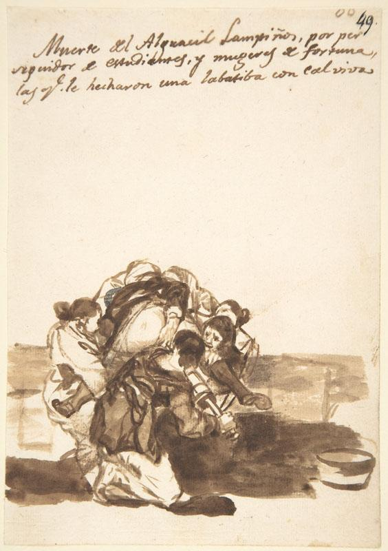 Goya--Revenge Upon a Constable, from Images