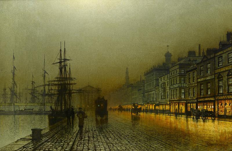 Greenock Harbour at Night, 1893