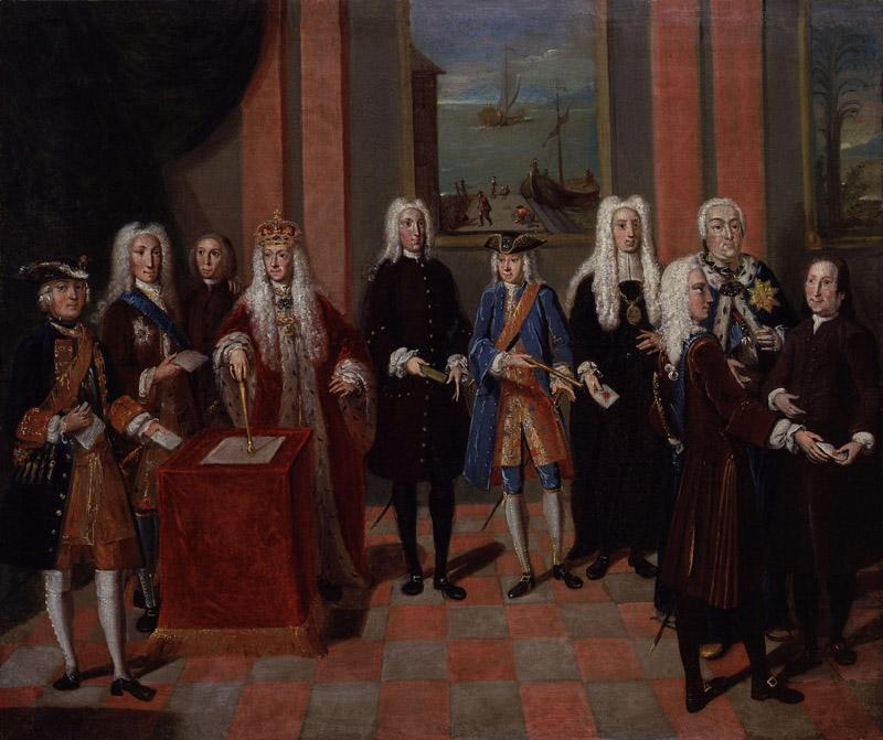 Group associated with the Moravian Church by Johann Valentin Haidt