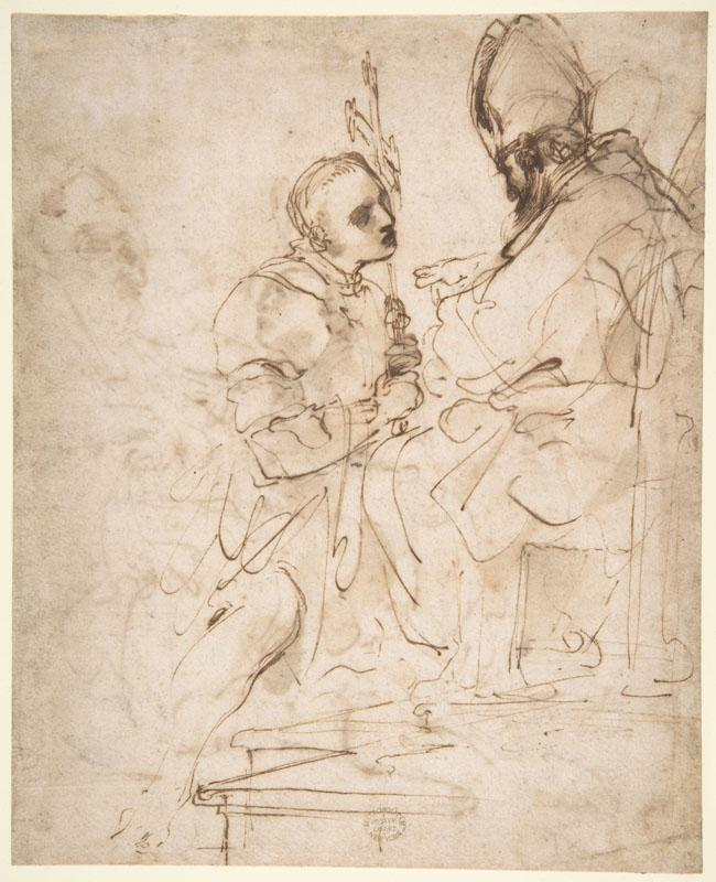 Guercino--Youth Kneeling before a Prelate