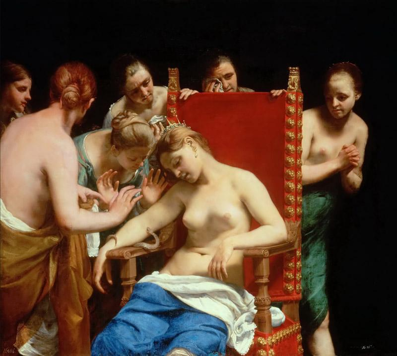 Guido CAGNACCI -- The Death of Cleopatra