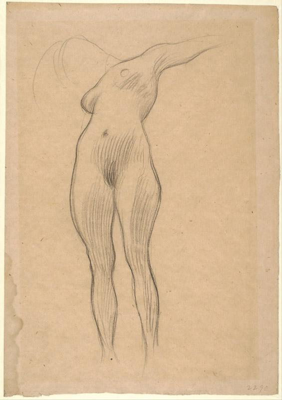 Gustav Klimt (1862-1918)-Floating Woman with Outstretched Arm (S