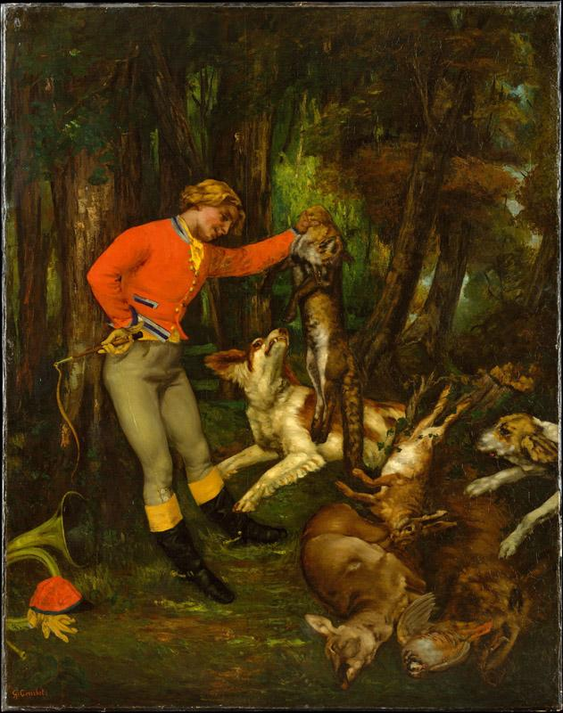 Gustave Courbet--After the Hunt